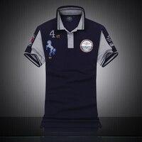 Famous Italy Brand Clothing Fashion Polo Homme Aeronautica Militare Men Polo Shirts Embroidery Horse Logo Air