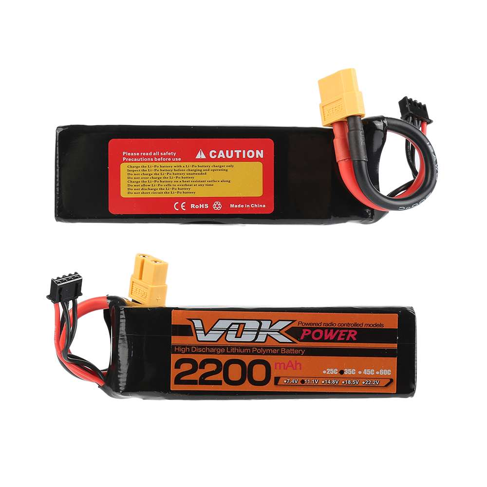 XT60 Discharger Plug VOK 3S Lipo Battery 11.1V 2200mAh 35C Lipo Battery Universal For RC Racing Helicopter lacywear vok 3 snn