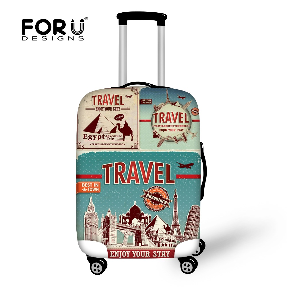 FORUDESIGNS Scenery Pattern Elastic Travel Accessories For 18-32 Inch Suitcase Luggage Protect Cover Fashion Suitcase Covers