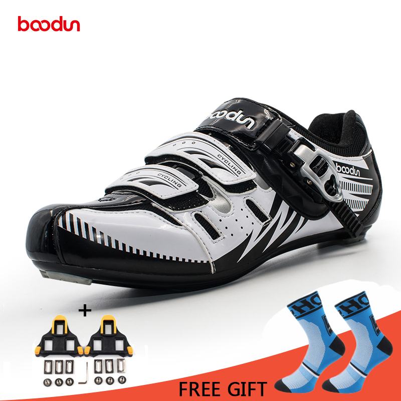 Boodun Cycling Road Shoes Breathable Wear Resisting Riding Athletic Racing Self Locking Bike Bicycle Shoes Zapatillas