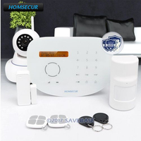 HOMSECUR Wireless&wired GSM RFID SMS Autodial Home Alarm System with IP Camera+Touch Panel+SOS Intercom