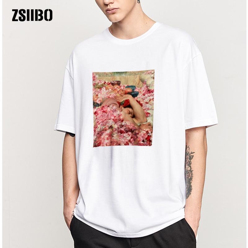 ZSIIBO T-shirt Men's T-shirt Victory Day Kiss Print Romantic Street Personality Century Kiss Art Shirt M-3XL HY1MC62