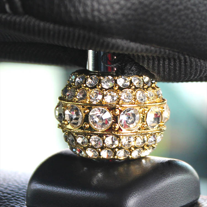 4pcs Lot Crystal Car Seat Headrest Collar Charm Rhinestone Golden Color Body Accessory Style In Auto Fastener Clip From Automobiles Motorcycles