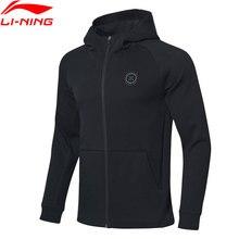 Li ning men wade hoodie regular ajuste 66% algodão 34% poliéster li ning forro conforto esportes casacos com capuz awdp133 mww1565