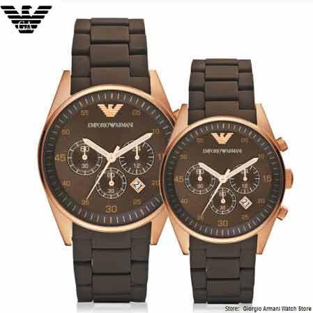 купить EMS/DHL Original Giorgio Armani watches Armani Men's steel band quartz watch business men's ladies couple watch AR5890+AR5891
