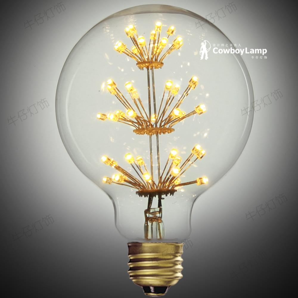 Edison Light Bulb Energy Saving Led Light Bulbs Art Cafe