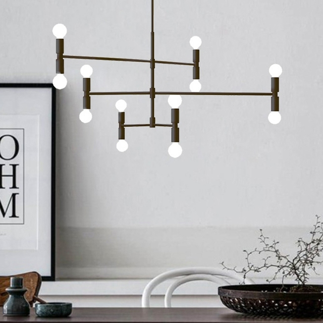LukLoy Post Modern Branch Chandelier Loft Living Room Bedroom Shop Pendant Lamp Light Nordic Gold Black Fashion Lighting Fixture