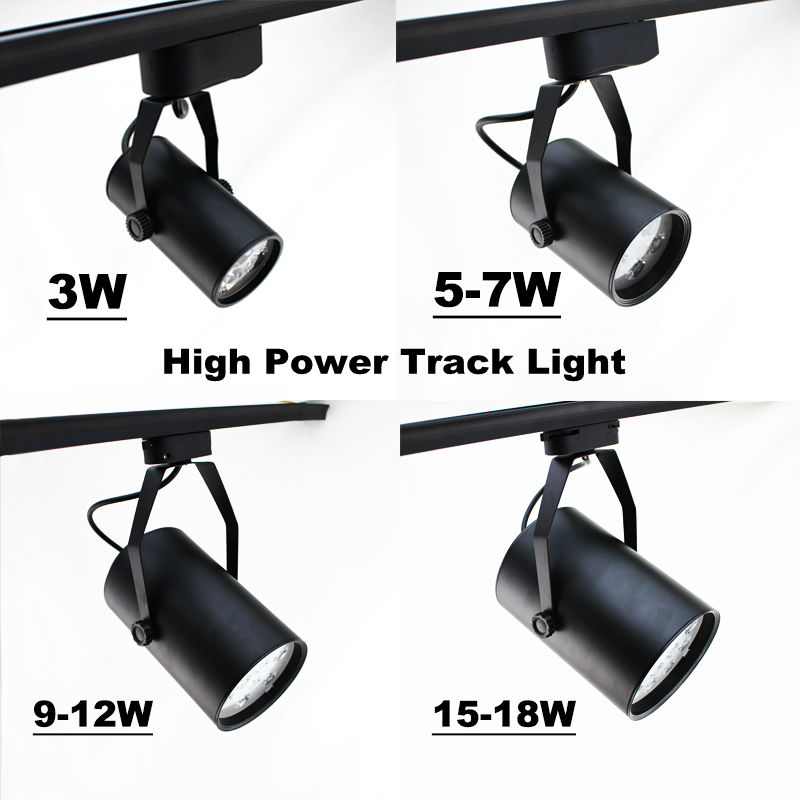 Led spotlight 3W  5W 7W 9W 12W 15W 18W  track light LED lamp track spot light  wall light Energy saving lamp For shop /plazza