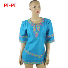 Фотография (Free shipping)African dashiki riche traditional embroidery dress short - sleeved short skirt natural linen material production