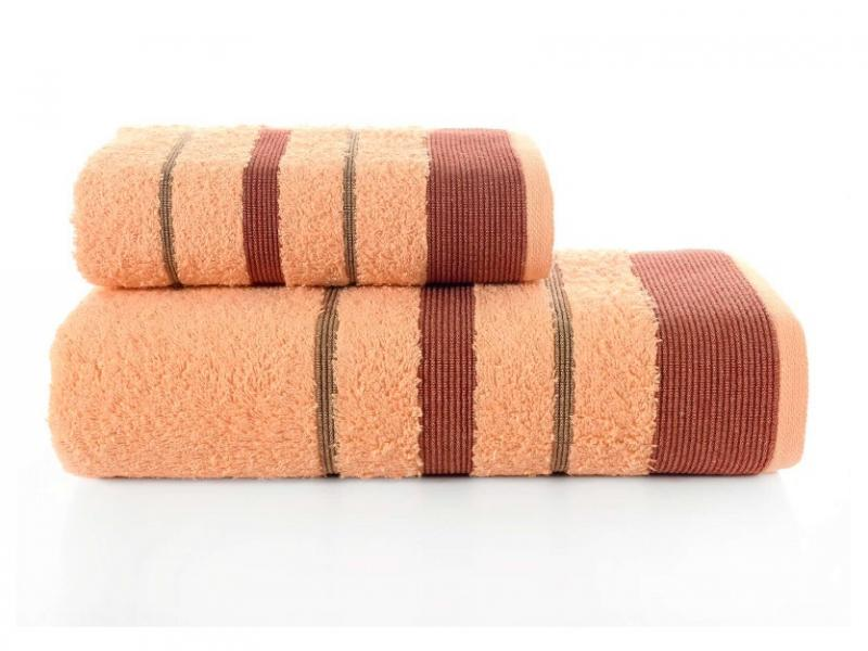 Towel Set KARNA, REGAL SET, 2 subject, apricot apricot oil