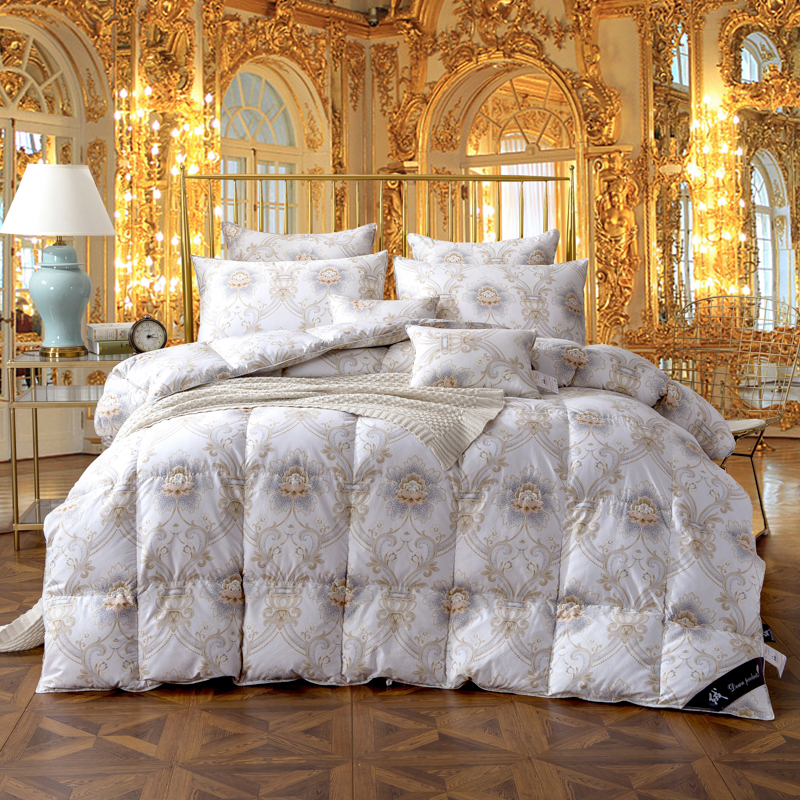 twin queen king size 100 cotton goose duck down comforter bed set quilt duvet cover filler thick. Black Bedroom Furniture Sets. Home Design Ideas