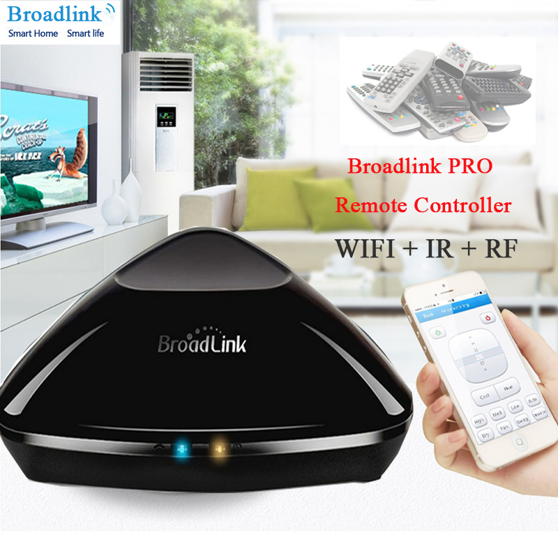 Broadlink RM2 RM PRO Universal Intelligent Remote Controller Smart Home Automation WiFi+IR+RF Switch Via IOS Android Phone EU hot sale uk standard broadlink rm2 rm pro smart home automation remote controller wifi ir rf switch ios android free shipping