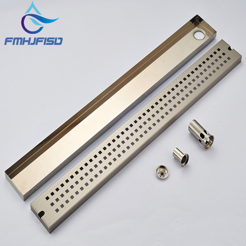 Wholesale And Retail Luxury Brushed Nickel Floor Drain Grill Bath Shower Tub Floor Filler Grate Waste Deodorant Sealing free shipping deodorant floor waste drain oil rubbed bronze 10cmshower floor cover sink grate page 10