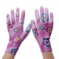 1 Paar PU Nylon Handschuhe Hand Sicher Sicherheit Protector Floral Handschuhe verschleißfeste Anti skid Arbeitshandschuhe Kostenloser Versand