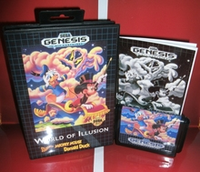 World oF Illusion Migkey Mouse and Donald Duck US Cover with box and manual For Sega Megadrive Genesis Video Game Console