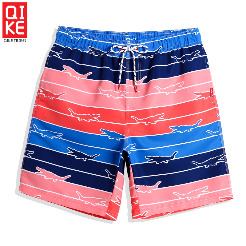 Beach   Shorts   Men Cartoon Printed Men's Swimming   Shorts   Striped Plus Size   Board     Shorts   Loose Quick Dry Mesh Padded   Short   Homme
