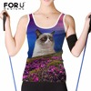 FORUDESIGNS Cute 3D Cat Women Tank Tops Animal Prints Woman Cropped Feminino For Girl Summer Short