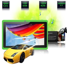 "7 ""Tablet PC Android 4.4 de Google A33 Quad-Core 1G-16 GB Bluetooth WiFi FlashTablet PC Quad Core Q88 Tab Soporte 3G Externo 7 8 9"