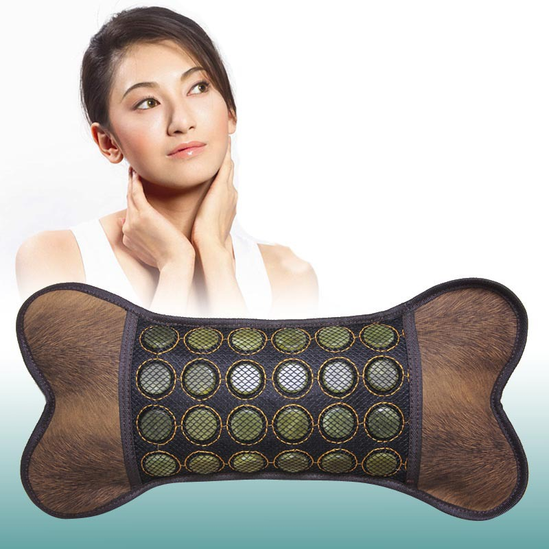New Sale Items Tourmaline Jade Stone Massage Cushion Thermal Neck Jade Cushion Infrared Heating Cushion Free Shipping newest drivers car massage cushion seat jade heating kneading massage cushion free shipping