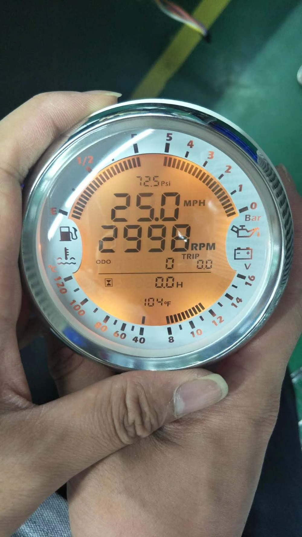 Digital GPS Speedometer Backlit Speed Meter Waterproof Clock Voltmeter Odometer