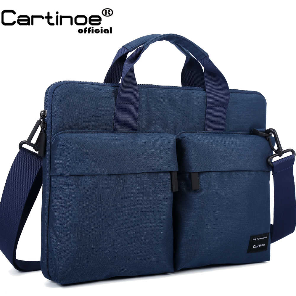 Cartinoe Nieuwste Laptop Tas 11, 13.3, 14, 15.4, 15.6 Inch Voor Macbook Air 13 Case Waterdichte Nylon Notebooktas 13.3/15.6 Inch