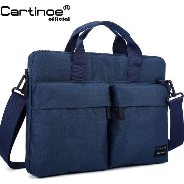 Cartinoe yeni laptop çantası 11, 13.3, 14, 15.4, 15.6 inç Macbook Air 13 için kılıf su geçirmez naylon dizüstü bilgisayar çantası 13.3/15.6 inç