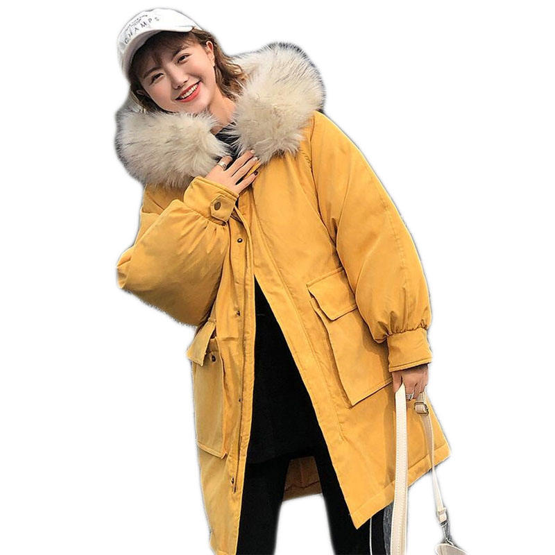 Femmes Blue B374 Et Rouge Épaississent as Chaud black Grand D'hiver Fourrure yellow Femme Hiver Manteau Manteaux Vestes Pour red Picture À Parkas De Col Veste Capuchon 2018 15UxwqR