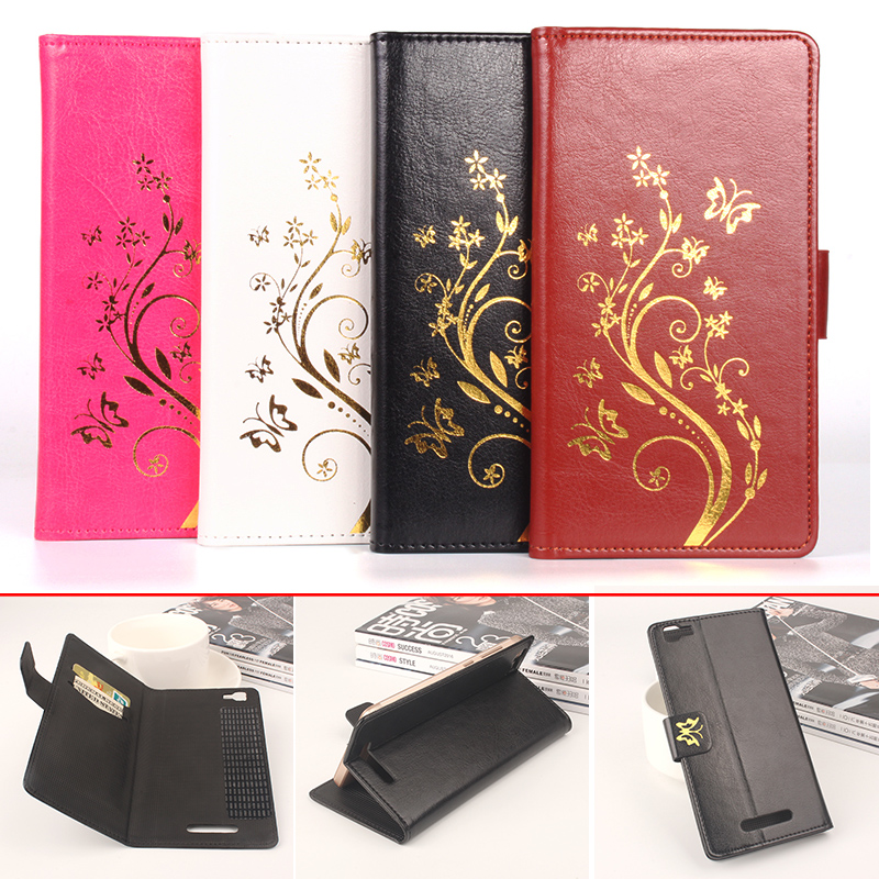 for Blackview A8 Max Case Luxury Brand Flower Henna Clear Flip Leather Wallet Phone Bag Case for Blackview A8 Max