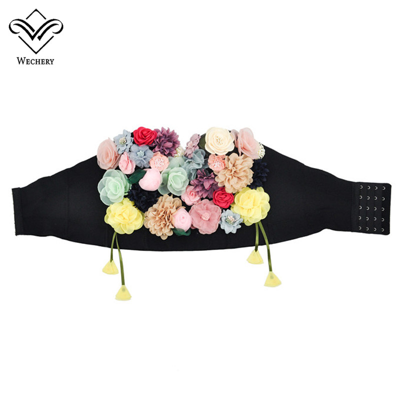 Wechery Floral Corset Appliques Tops for Women Fashion Sexy Gothic Style Waist Slimming Bustier Summer Clothing for Daily Party in Bustiers Corsets from Underwear Sleepwears