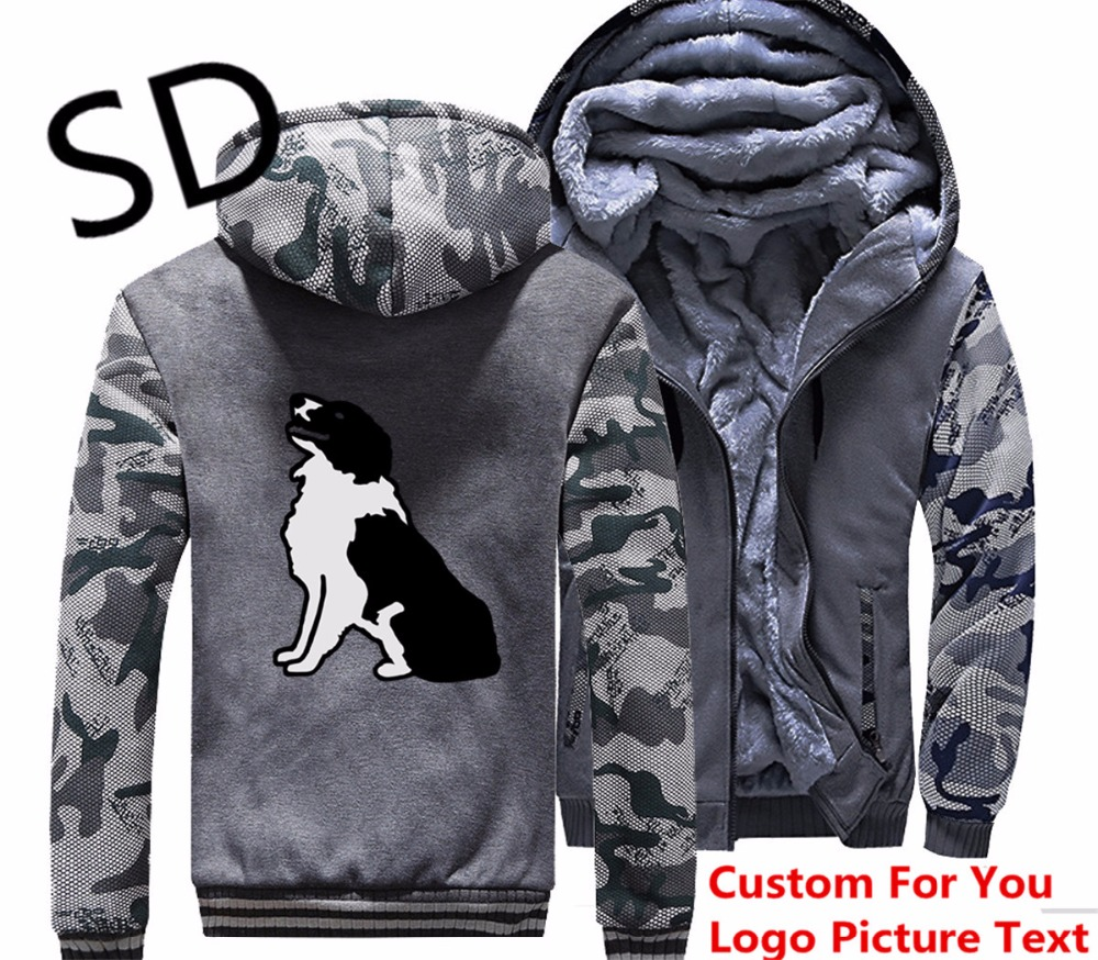 Dropshipping 3D Hoodies Men Hund Border Collie Sweatshirt Men Winter Jacket And Coats For Dog Lover moletom sudadera hombre Tops