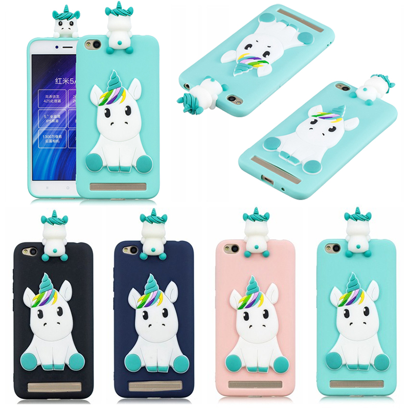Helpful Redmi 5a Case On For Xiaomi Redmi 5a Case Cover For Xiaomi Redmi 4x 4 X Fundas 3d Cartoon Unicorn Soft Silicone Phone Cases Limpid In Sight Cellphones & Telecommunications Fitted Cases