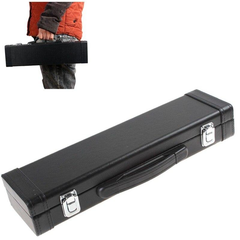 SLADE Portable & Wear Resistant Flute Läder Box med Carry Handle - Musikinstrument
