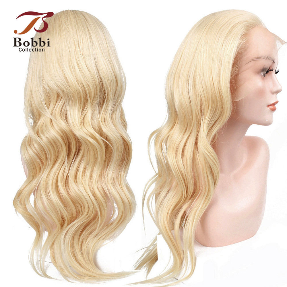 BOBBI COLLECTION 613 Lace Front Wig Blonde Human Hair Wigs Pre-plucked Guless Wig Chinese Remy Hair Long Wavy Style