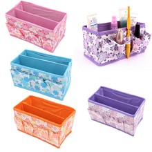 big sale New Fashion Cosmetic Storage Box Foldable Drawer Closet Home Organizer Case Plastic Container Useful Home Accessories