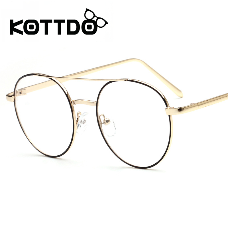 Eyeglasses Frames 2017 : KOTTDO 2017 Metal Round Eyeglasses Frames Women Men ...