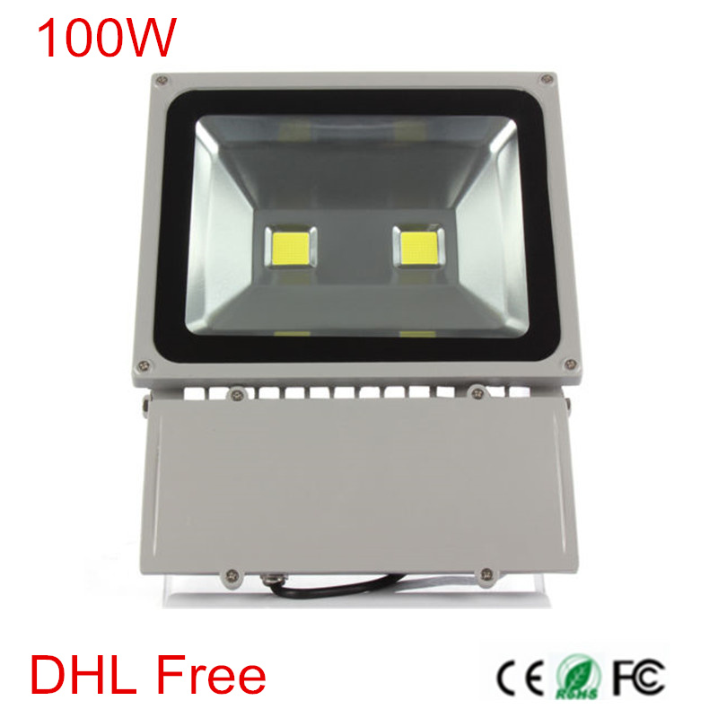 4pcs/lot,DHL Free shipping, 100W High Power Led Floodlight Outdoor Led Flood light 85-265V Warm/Natural/Cold White outdoor light цена