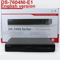 Free Shipping English Version DS 7604NI E1 NVR 4ch 1SATA Port H 264 Embedded NVR Non