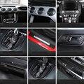 QHCP автостайлинг 13 шт. карбоновое волокно украшение интерьера автомобильные аксессуары для Ford Mustang 2015 +