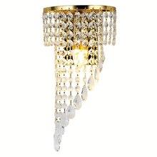 Modern LED K9 crystal wall lamp  living room bedroom Deluxe golden light Luxurious golden lighting Home decorative lighting