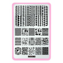 New Lace Design Rectangle Nail Stamping Plate Stamp Image Plate Beauty Nail Art Template Tools