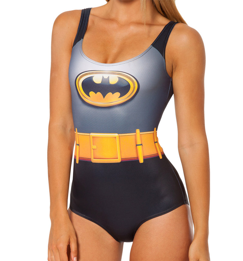 NEW 1046 Sexy Girl Summer Comic The Avengers Batman belt 3D Prints Sleeveless One-piece Swimsuit Swimwear women bathing suit oreimo comic anthology