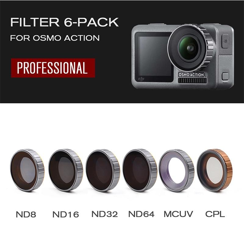 ND16 Adjustable MCUV CPL //ND4 8 16 32 64-PL //ND4 8 16 32 64 Lens Filter for DJI OSMO Pocket Gimbal Camera Filters