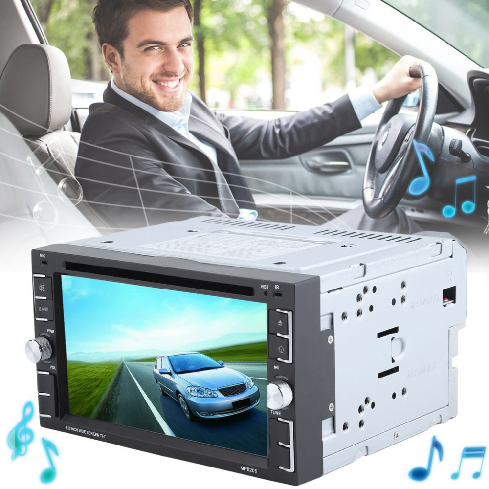 Hot Sale 6.2 Inch Car Radio DVD CD MP3 Player Double Din Bluetooth Car Stereo Music Player 6205 EU Plug Car Accessories ...