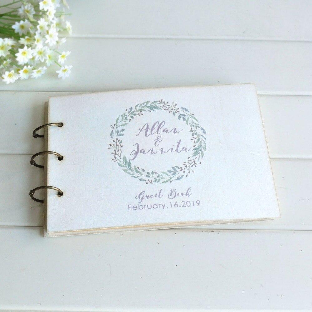 Custom Wedding Guest Book New Design Personalized Bride: Custom White Wedding Guest Book Personalized Wedding Sign