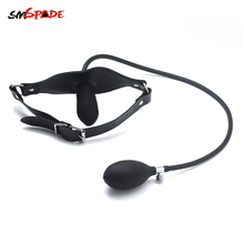 Smspade Sex Toys For Woman Bondage Inflatable Dildo Gag Dildo Big Mouth Gag Adult Sex Toys Adult Games Slave bdsm Tools Sex Shop adult games mouth flail mouth gag bondage set mouth bite sex toy slave gag for lovers erotic toys