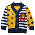 High Quality Children Boy Sweater Stars and Strip Printed Sweater Pullover Autumn and Spring Children's Clothing 3 Color