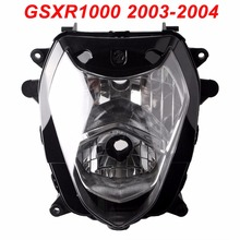 For 03-04 Suzuki GSXR1000 GSX-R GSXR 1000 K3 Motorcycle Front Headlight Head Light Lamp Headlamp CLEAR 2003 2004 hot sale fairings for 2003 2004 suzuki gsxr1000 k3 fairing 03 04 gsxr 1000 popular white black kits 7 gifts sj233