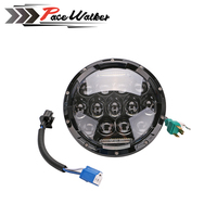 7 Projector Daymaker Round 75W 7500LM Hi Low Beam Motorcycle LED Headlight Bulb DRL For Harley