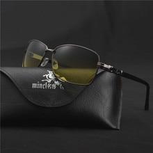 36d4fa675ab74 MINCL 2018 Dia Óculos de Visão Noturna Óculos De Sol para Os Homens do  Carro Frame Da Liga de Óculos de Condução Anti-reflexo Mo.