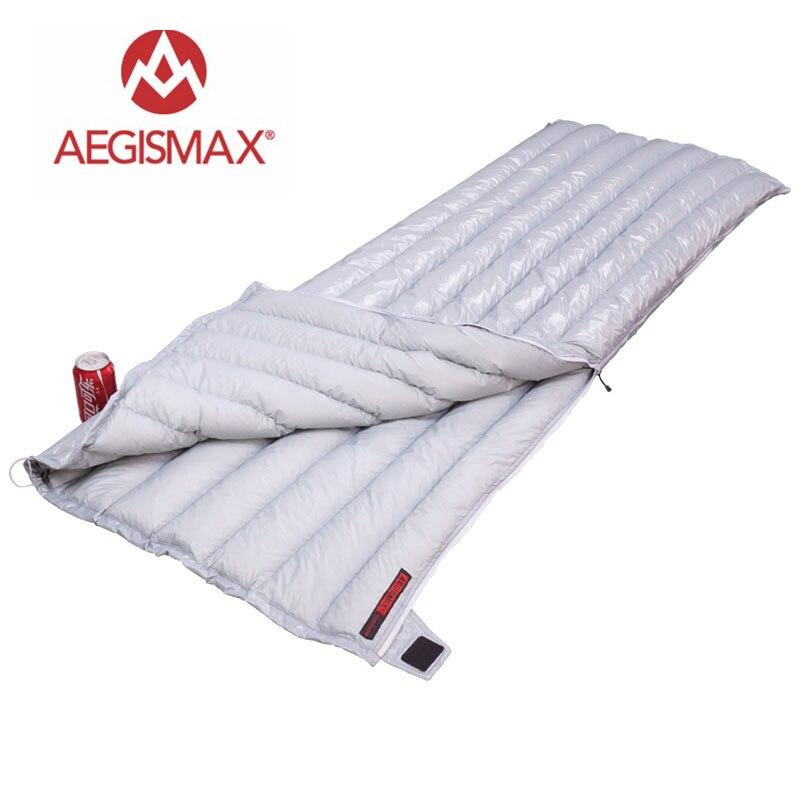 AEGISMAX Сверхлегкий удлиненный конверт типа E длинный наружный кемпинг туризм 95% гусиный пух трехсезонный спальный мешок для взрослых 200X80